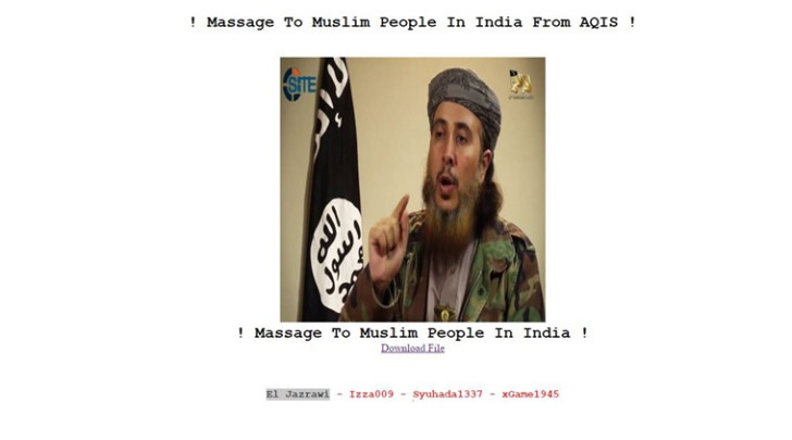 Indian government website hacked by terrorist group al Qaeda