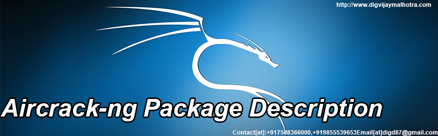 Aircrack-ng Package Description(Kali linux)