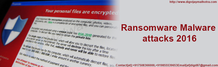 ransomware malware attacks 2016:-hacker Contact@+917508366000